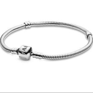 Pandora Sterling Silver Barrel Clasp Bracelet